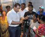 Solutions for people distressed by floods in Kolonnawa from MP R Dumindha Silva