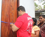 A new house from MP R Dumindha Silva in place of the house destroyed by fire